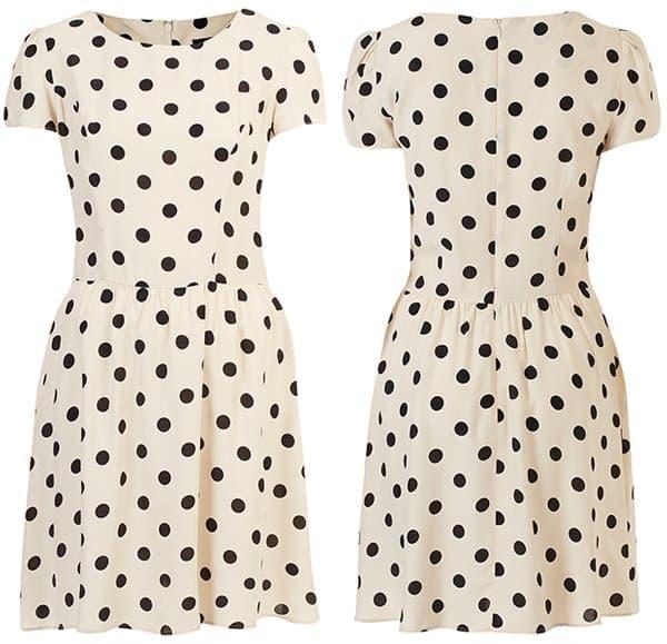 Topshop Polka Dot Dress