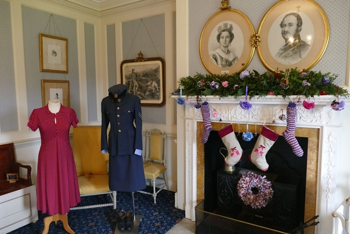 The rooms in Hughenden Manor, the country house of the Prime Minister, Benjamin Disraeli, are dressed in 1940's homemade decorations in keeping with its wartime history