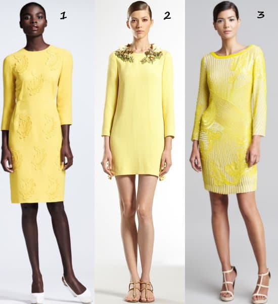Yellow-Long-Sleeved-Dress