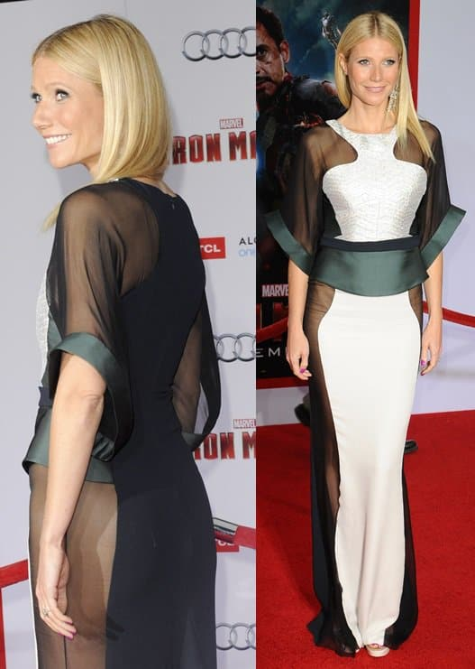 "Actress Gwyneth Paltrow attends the premiere of Walt Disney Pictures' ""Iron Man 3"""
