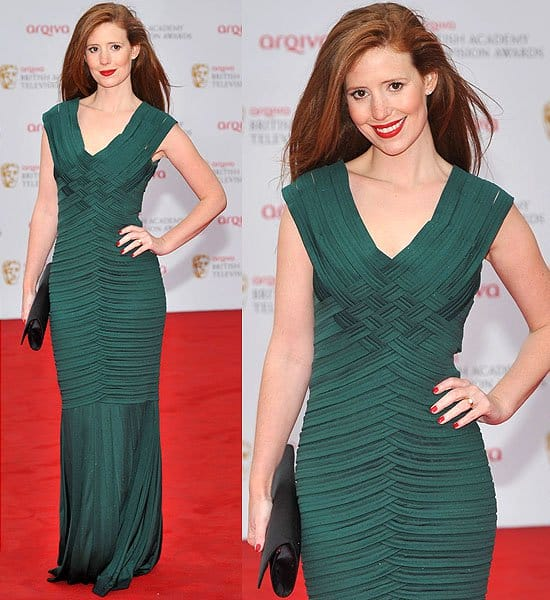 Amy Nuttall attends the Arqiva British Academy Television Awards