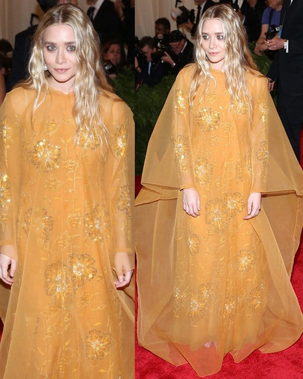 Ashley Olsen arrives at the PUNK Chaos to Couture Costume Institute Gala at The Metropolitan Museum of Art on May 6, 2013