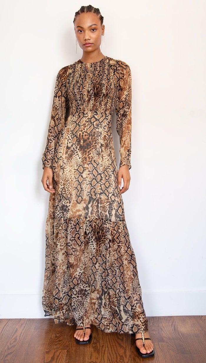 Beige Ba&sh Rouky Dress