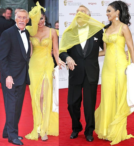 Bruce Forsyth and Wilnelia Merced attend the Arqiva British Academy Television Awards