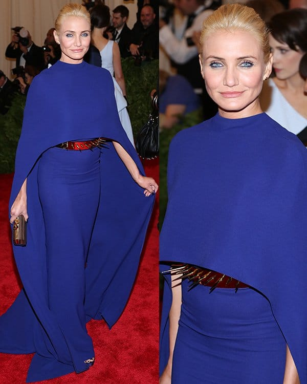 Cameron Diaz arrives at the PUNK: Chaos to Couture Costume Institute Gala at The Metropolitan Museum of Art on May 6, 2013