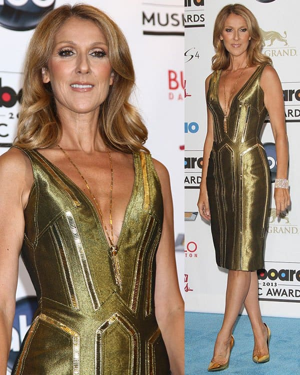Celine Dion at the 2013 Billboard Music Awards at the MGM Grand Garden Arena in Las Vegas on May 19, 2013