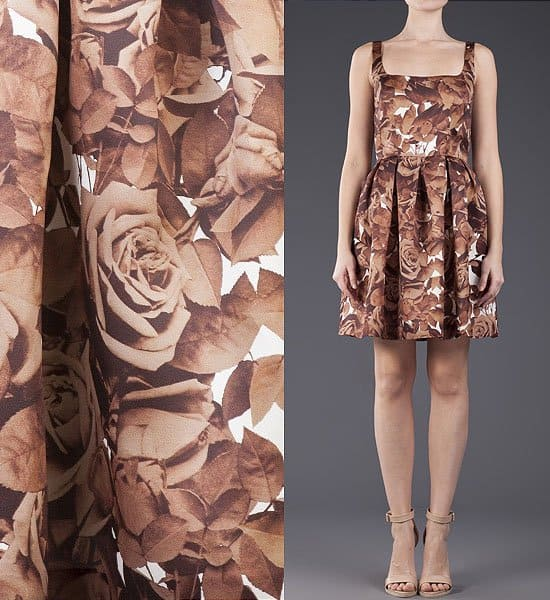 Christopher Kane Floral Print Fit and Flare Dress