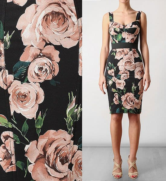 Dolce & Gabbana Floral Print Stretch Bustier Dress