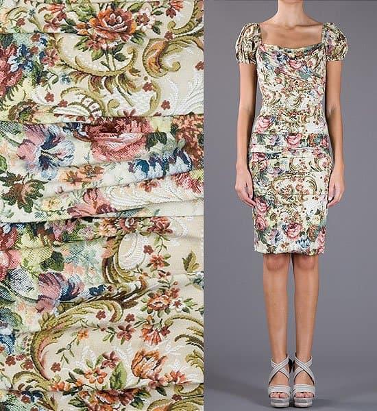 Dolce & Gabbana Floral Ruched Dress