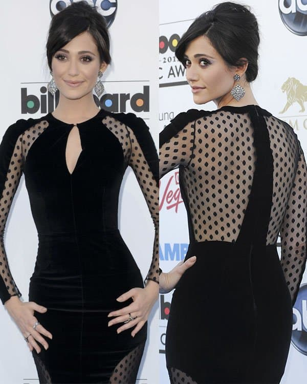Emmy Rossum at the 2013 Billboard Music Awards at the MGM Grand Garden Arena in Las Vegas on May 19, 2013