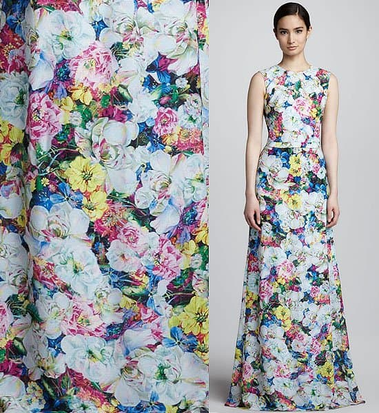 Erdem Long Floral Print Dress