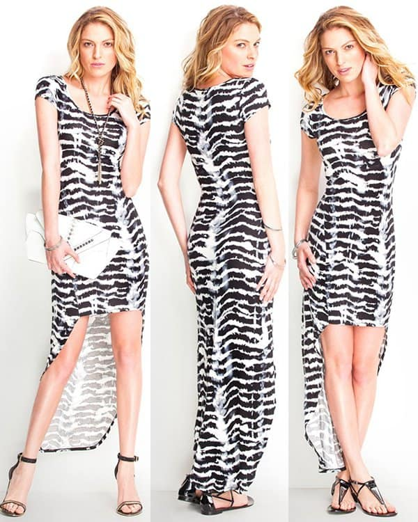 Guess Abstract Dye Hi-Low Dress