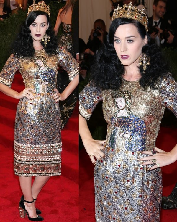 Katy Perry arrives at the PUNK Chaos to Couture Costume Institute Gala at The Metropolitan Museum of Art on May 6, 2013