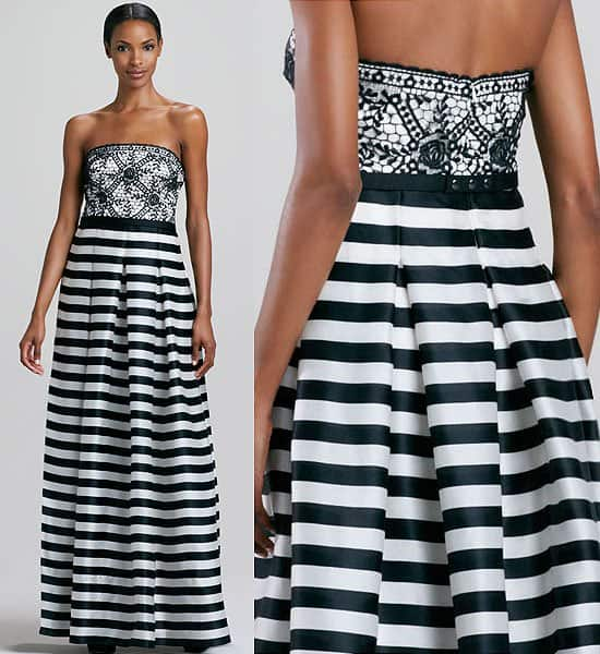 Interesting Red Carpet Trend Striped Full Length Gowns