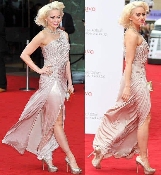 Kimberly Wyatt attends the Arqiva British Academy Television Awards