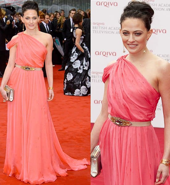 Lara Pulver during the Arqiva British Academy Television Awards