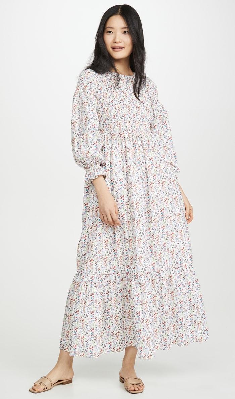 Pretty Floral Meadows Blush Dress