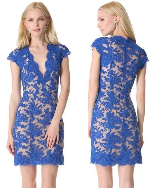 Reem Acra Lace Cocktail Dress-horz