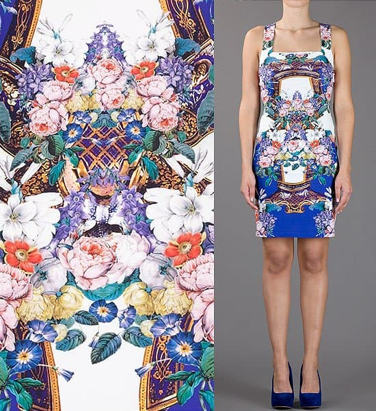 Roberto Cavalli Floral Racerback Dress