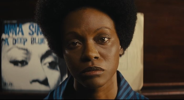 Zoe Saldana darkened her skin and wore a prosthetic nose for playing Nina Simone in a 2016 biopic