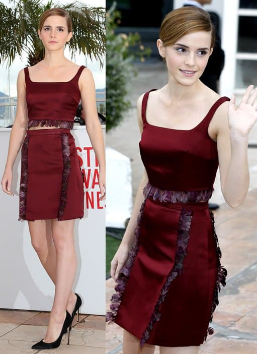 emma watson bling ring cannes photocall dress