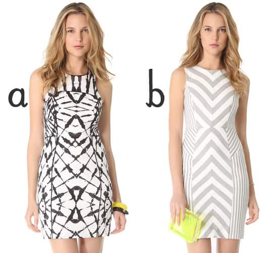 Milly Mallane Racer Back Dress and Milly Striped Sheath Dress