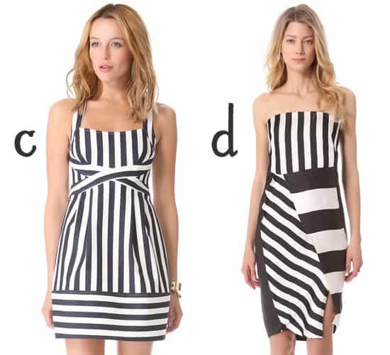 Nanette Lepore Waterfront Dress and CoSTUME NATIONAL Black & White Strapless Dress