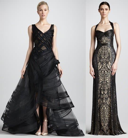 zac posen and monique lhuillier gowns