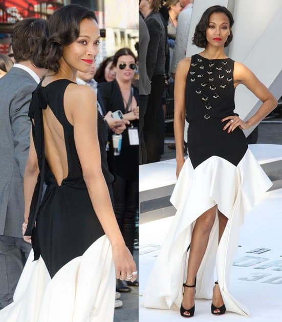 Zoe Saldana attends the UK Premiere of 'Star Trek Into Darkness' at The Empire Cinema