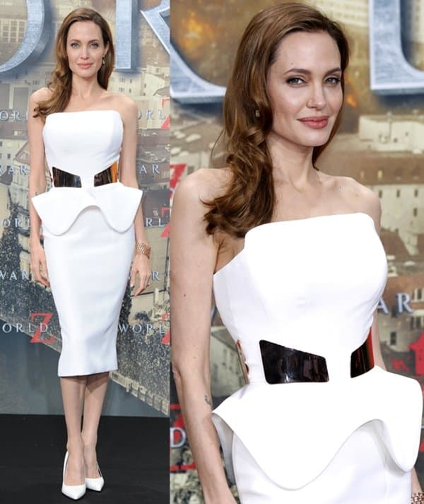 Angelina Jolie at the 'World War Z' premiere at Sony Centre in Berlin on June 4, 2013