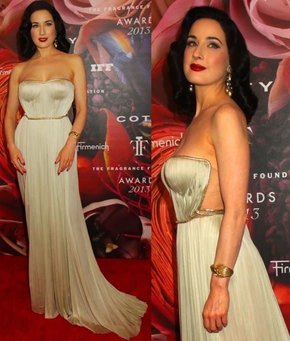Dita Von Teese at the 2013 Fragrance Foundation's FiFi Awards in New York City on June 12, 2013
