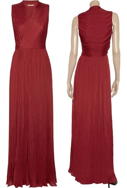 Halston Heritage Pleated-Jersey Gown