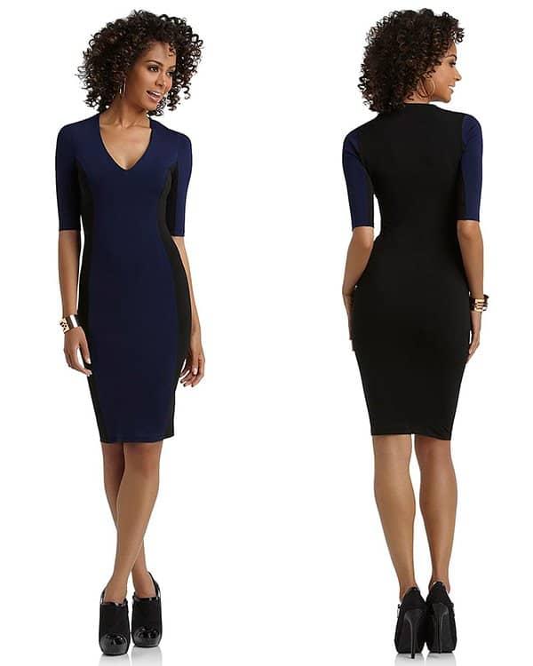 Kardashian Kollection Colorblock Sheath Dress