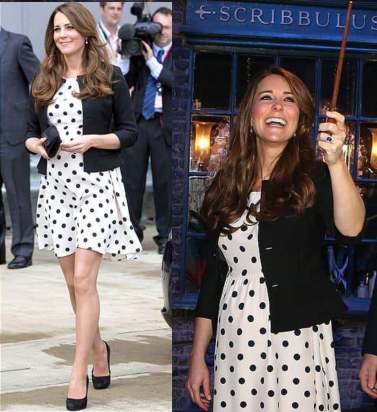 Kate Middleton Inauguration of Warner Bros Studios