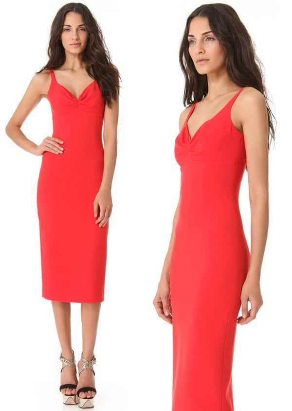 L'Wren Scott Sleeveless Red Dress_red