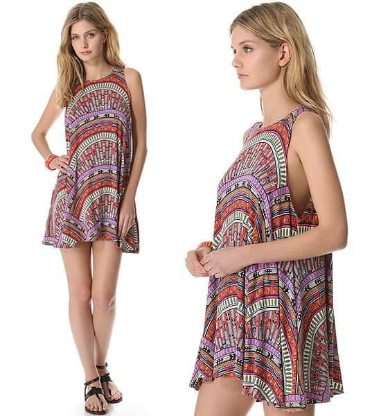 "Mara Hoffman ""Rainbow"" Mini Cover-Up Dress"
