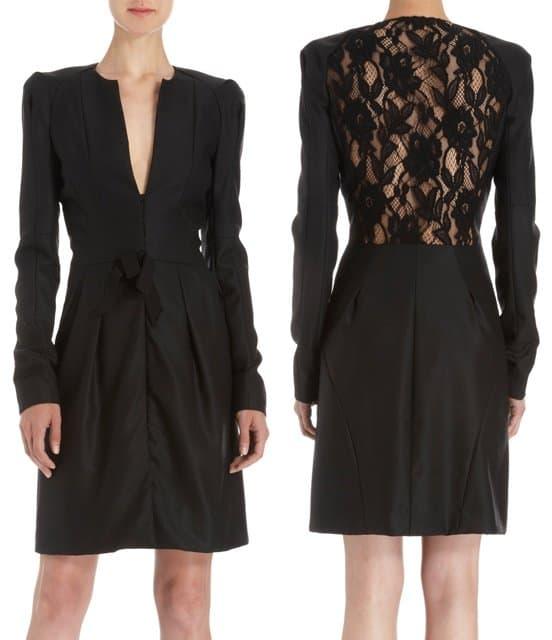 Nina Ricci Seam Lace Dress