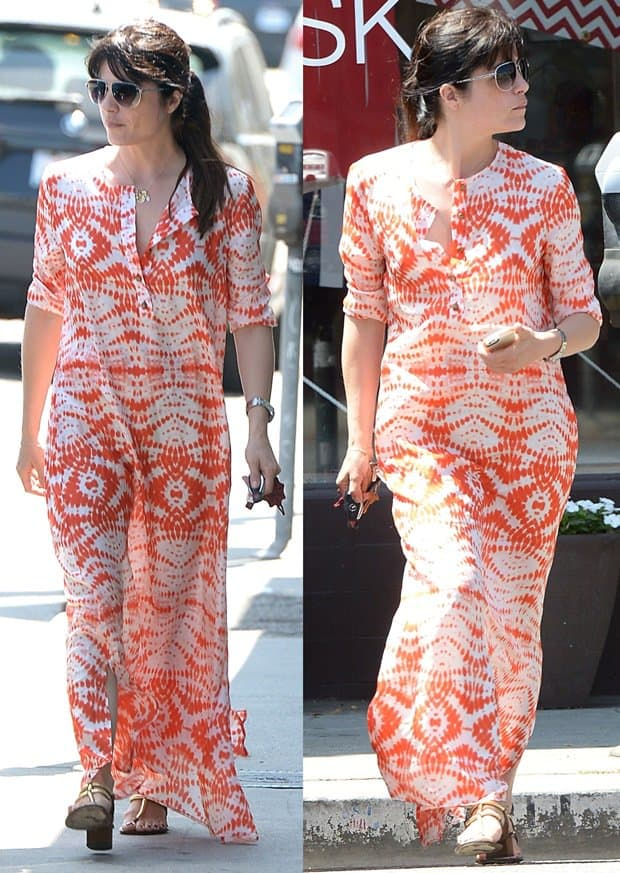 Selma Blair Picks Up an Outfit at Decades on Melrose