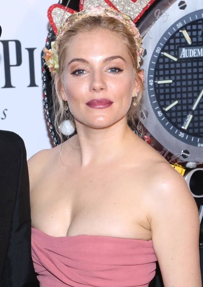 Sienna Miller in a Burberry dress at the 67th Annual Tony Awards held at Radio City Music Hall in New York City on June 9, 2013