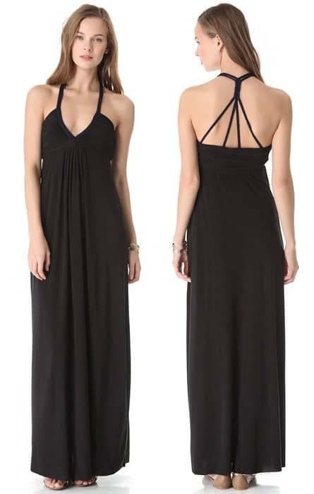 Tbags Los Angeles Maxi Dress with Braided Straps