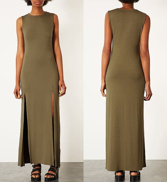 Topshop Double Split Maxi Dress