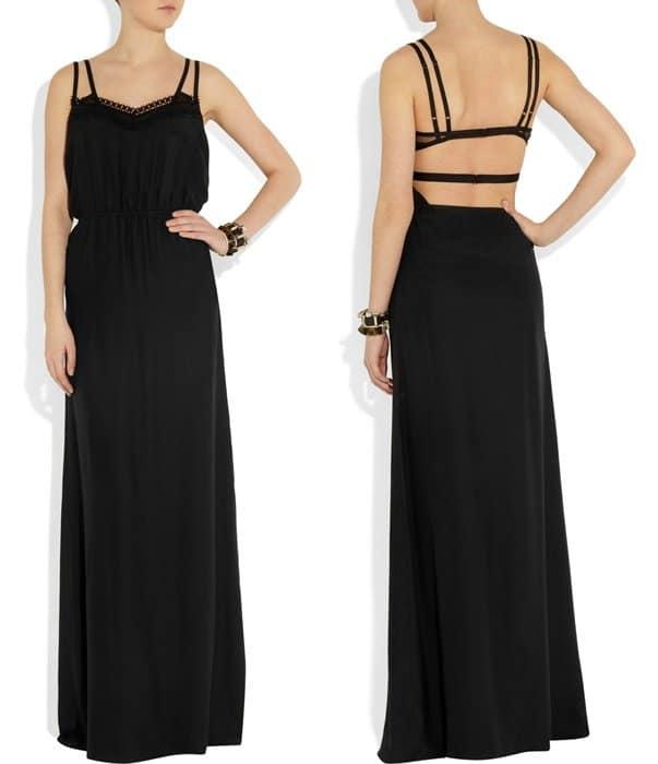 Victoria Beckham Backless Silk Gown