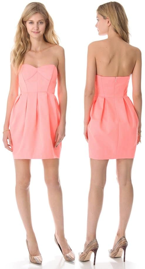 Shoshanna Jane Strapless Dress