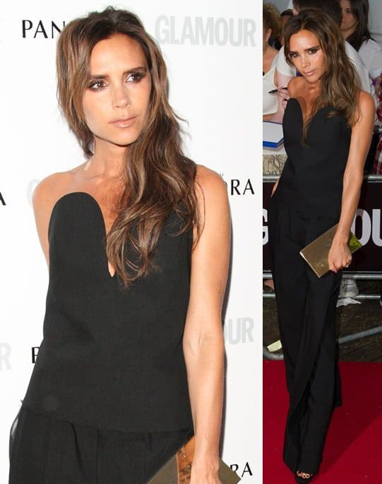 victoria beckham glamour women of the year london june 4