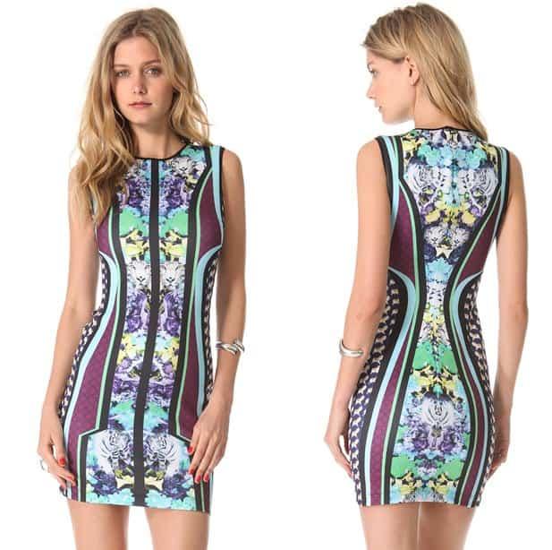 Clover Canyon Graphic Flowers Sleeveless Dress-horz