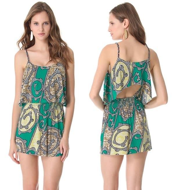 Tbags Los Angeles Open Back Mini Dress