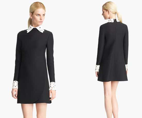 Valentino Embroidered Collar Dress