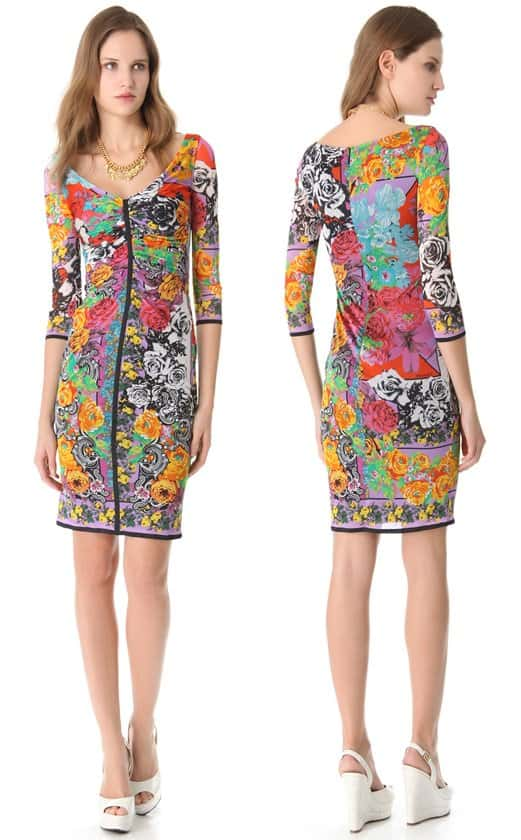 Versace Vintage Print Dress-horz