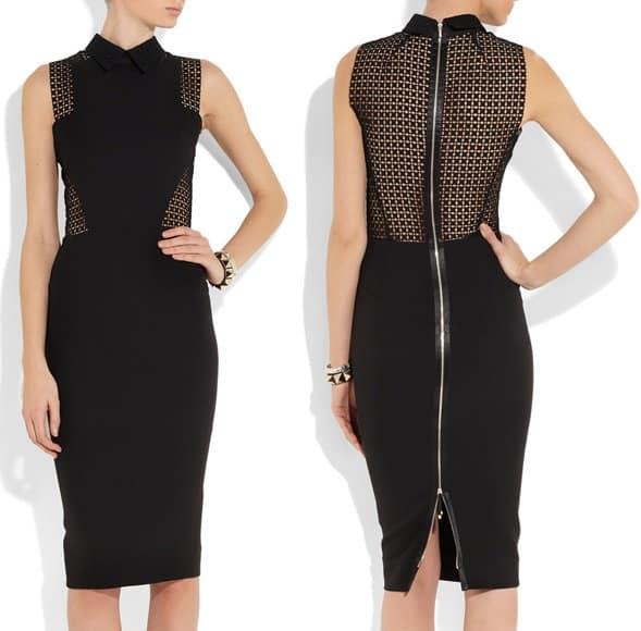 Victoria Beckham Broderie dress-horz