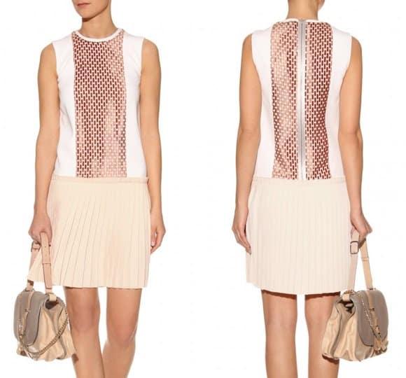 Victoria Beckham DROPPED WAIST PLEATED DRESS-horz